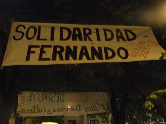 pancarta plaza de los castaños