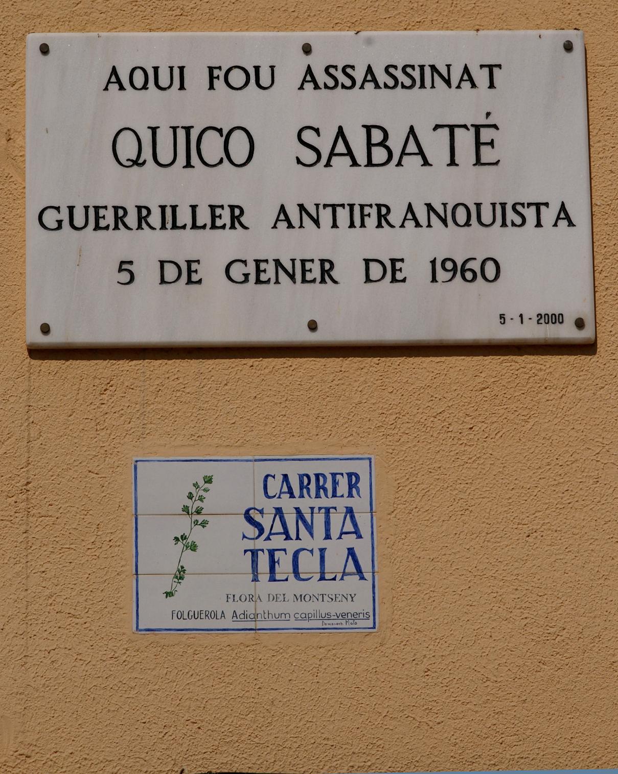 quico_sabate_placa_a_sant_celoni